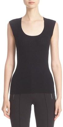 Women's Michael Kors Cap Sleeve Cashmere Tee $550 thestylecure.com