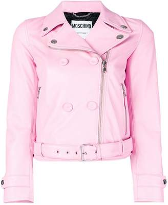 Moschino double breasted biker jacket