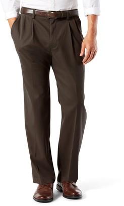 Dockers Men's Stretch Easy Khaki D3 Classic-Fit Pleated Pants