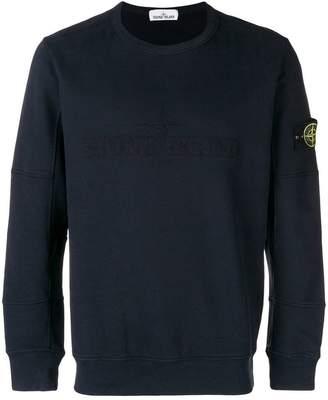 Stone Island garment dyed logo sweatshirt