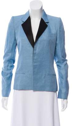 Haider Ackermann Linen-Blend Notch-Lapel Blazer