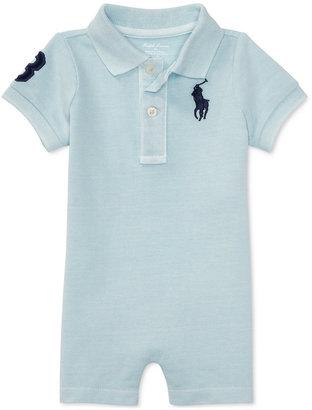 Ralph Lauren Cotton Polo Romper, Baby Boys (0-24 months) $29.50 thestylecure.com