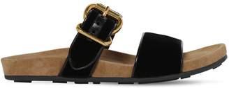 Prada 20mm Double Strap Velvet Sandals