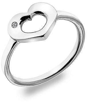 Hot Diamonds Emerge Open Heart Ring - Size N