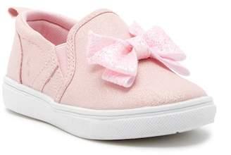 Nicole Miller Big Glittered Bow Slip-On Sneaker (Toddler)