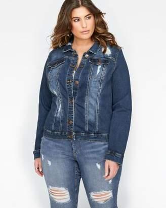 Addition Elle L&L Distressed Denim Jacket