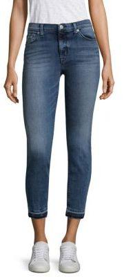 Hudson Nico Ankle Jeans With Frayed Hem