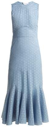 Raey Broderie-anglaise fishtail dress