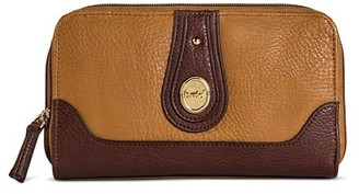 Bolo Women's Faux Leather Wallet with Back/Interior Compartments and Zipper Closure - Camel $17.99 thestylecure.com