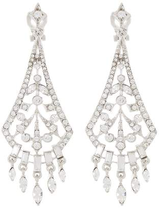 Carolee Crystal Chandelier Drop Clip Earrings