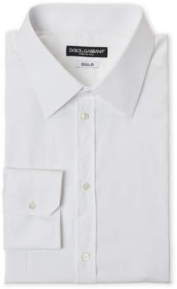 Dolce & Gabbana Optical White Gold Fit Dress Shirt