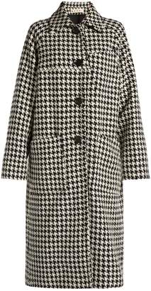 Hound's-tooth checked car coat