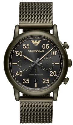 Emporio Armani Chronograph Mesh Strap Watch, 43mm