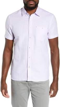 Ted Baker Graphit Slim Fit Cotton & Linen Sport Shirt