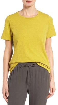 Women's Eileen Fisher Slub Cotton Jersey Tee $68 thestylecure.com