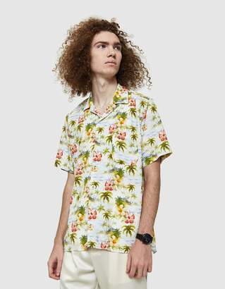 Gitman Brothers Rayon Camp Shirt in Watercolor Tropics