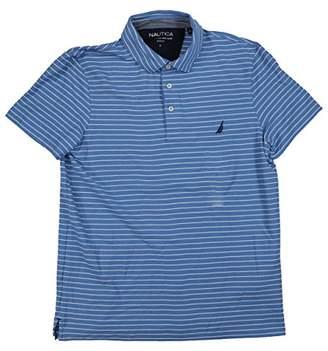 Nautica Men's Standard Slim Fit Short Sleeve Striped Polo Shirt