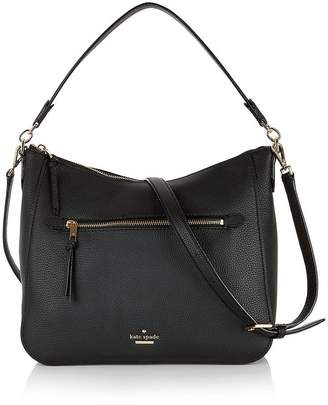 Kate Spade Quincy Logo Hobo Bag - Black