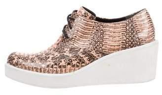 3.1 Phillip Lim Snakeskin Wedge Sneakers