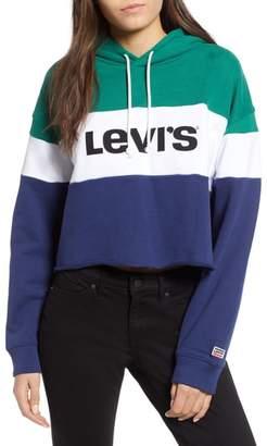 Levi's Logo Colorblock Crop Hoodie