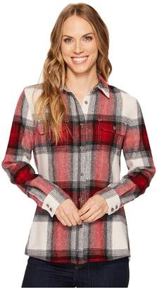 Woolrich Bering Wool Plaid Shirt Women's Long Sleeve Button Up