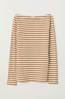 H&M Pima Cotton Jersey Top - Yellow