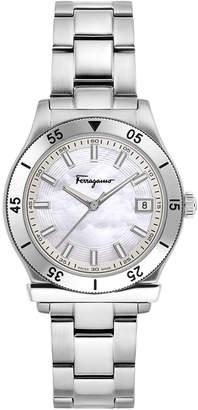 Salvatore Ferragamo 33mm 60-Minute Bezel Watch w\/ Bracelet Strap Steel