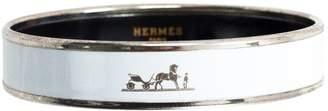 Hermes White Metal Bracelet