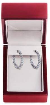 Lord & Taylor Diamond and 14K White Gold Hoop Earrings, 1.5 TCW