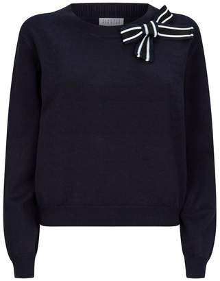 Claudie Pierlot Stripe Bow Sweater