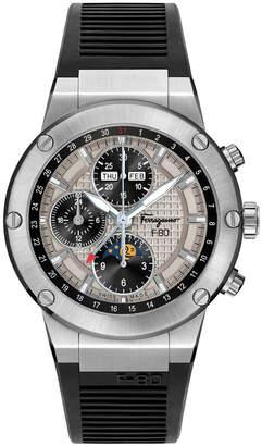 Salvatore Ferragamo Men's F-80 Moon Phase Automatic Chronograph Watch