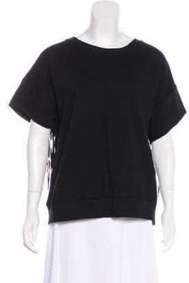 BLK DNM Short Sleeve Fringe Top w/ Tags