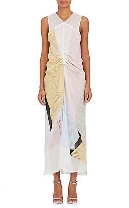 Victoria Beckham Women's Abstract-Print Silk Chiffon Midi-Dress