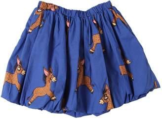Mini Rodini Donkey Print Organic Cotton Poplin Skirt