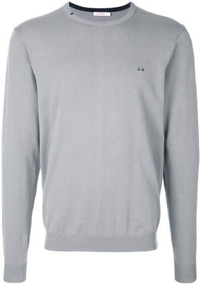 Sun 68 elbow patch sweatshirt