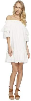J.o.a. Off the Shoulder Eyelet Lace Dress Women's Dress