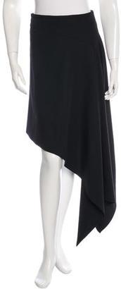 McQ by Alexander McQueen Asymmetrical Wool Skirt $65 thestylecure.com