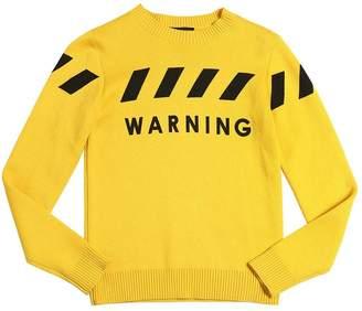 John Richmond Printed Cotton Blend Sweater
