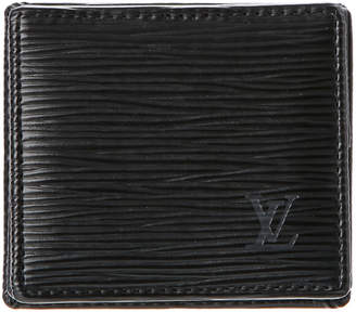 Louis Vuitton Black Epi Leather Porte Monnaie Boite Coin Purse