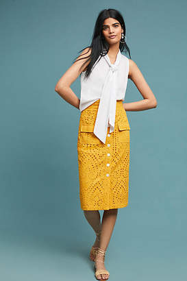 Anthropologie Tracy Reese x Sunshine Eyelet Pencil Skirt