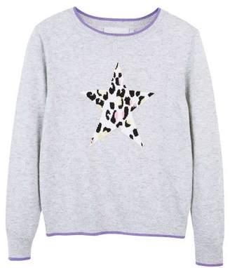 Mint Velvet Grey Romy Print Star Knit