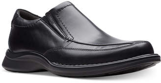Clarks Men Kempton Free Black Leather Dress Casual Loafers Men Shoes
