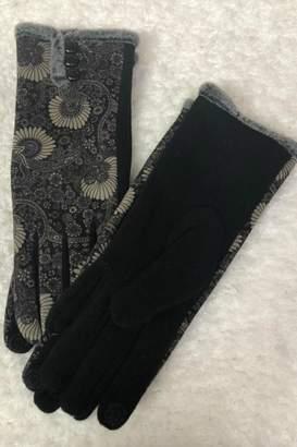 Sylvia Alexander Floral Velvet Gloves
