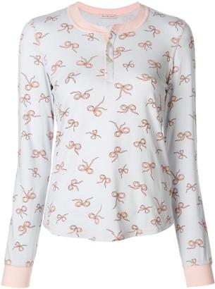 Morgan Lane Kaia bow-print pyjama set