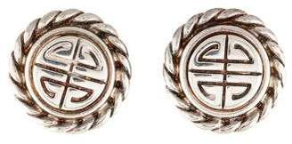 Givenchy Vintage Logo Clip-On Earrings