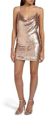 Missguided Cami Cowl Neck Sequin Minidress