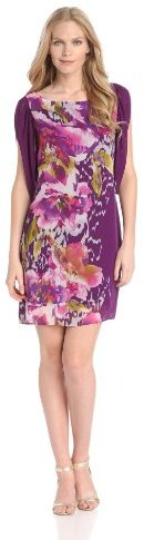 Gabby Skye Women's Chiffon-Print Dress