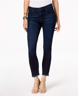 Style&Co. Style & Co Petite Frayed-Hem Skinny Ankle Jeans, Created for Macy's