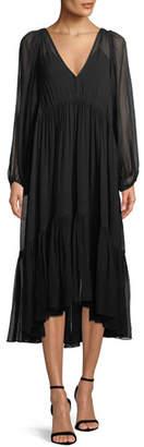 A.L.C. Rosson Silk Empire Midi Dress