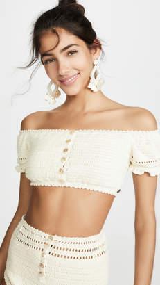 She Made Me Inika Crochet Bikini Top